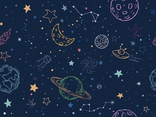 Padrão de espaço sem costura de cor