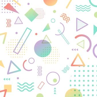 Padrão de estilo abstrato memphis cor pastel