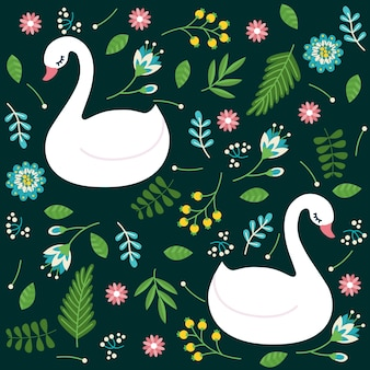 Padrão de estilo elegante cisne