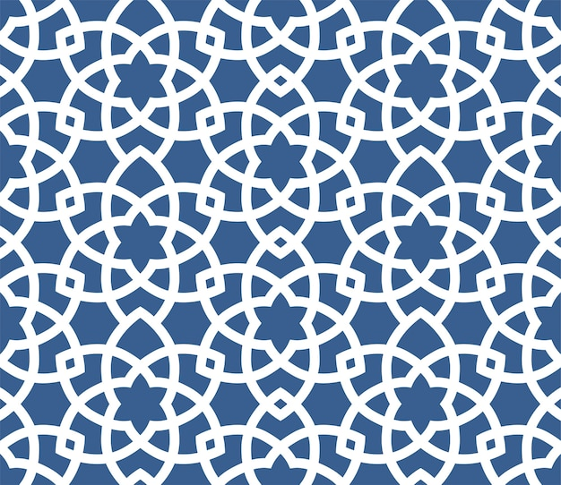 Padrão de estilo persa sem costura ornamental árabe