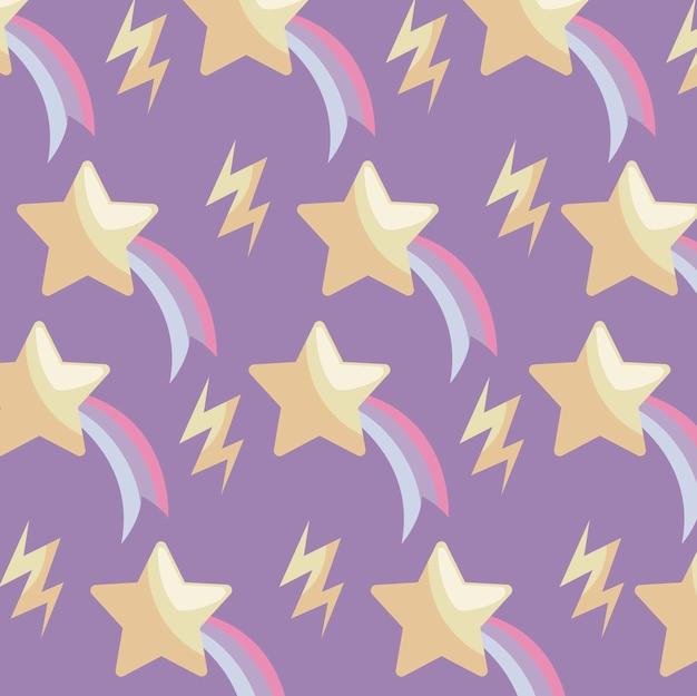 Padrão de estrelas cadentes e raios