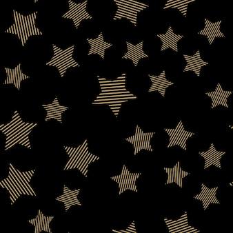 Padrão de estrelas, fundo geométrico abstrato. ilustração de estilo criativo e luxuoso