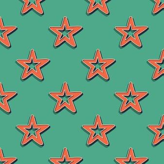 Padrão de estrelas retrô, fundo geométrico abstrato nos anos 80, estilo dos anos 90. ilustração geométrica simples