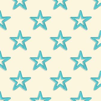 Padrão de estrelas retrô. fundo geométrico abstrato nos anos 80, imagem do estilo dos anos 90. ilustração geométrica simples