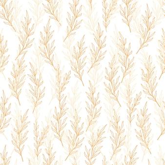 Padrão de eucalipto em estilo de linha. ornamento desenhado de mão sem costura verde-oliva floral. doodle moderno padrão de repetição com ramo de oliveira. papel de parede fofo de eucalipto, ilustração vetorial em tons pastel