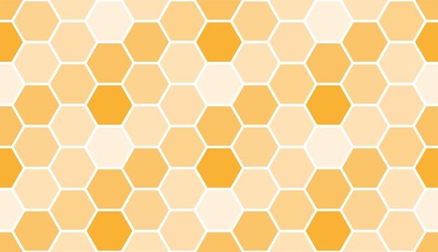 Padrão de favo de mel de abelha sem costura, modelo de plano de fundo de arte. textura de mel de vetor