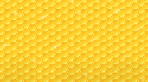 Padrão de favo de mel. fundo geométrico da colmeia.