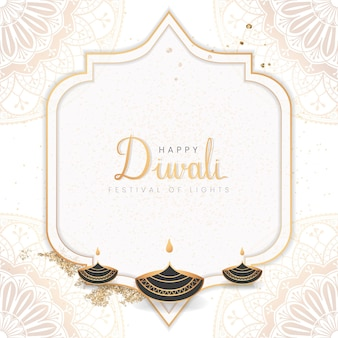 Padrão de feliz festival de diwali