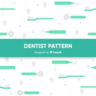 Padrão de ferramentas de dentista plana