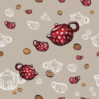 Padrão de festa de chá