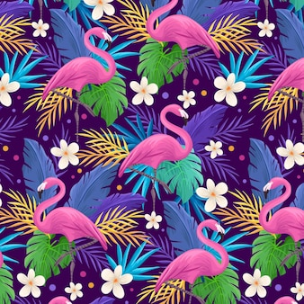 Padrão de flamingo colorido