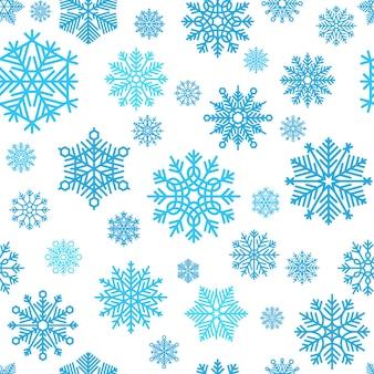 Padrão de floco de neve de inverno. papel de parede de neve e flocos de neve de vetor