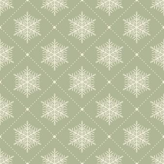 Padrão de flocos de neve para fundo de inverno. ilustração de estilo retro e criativo