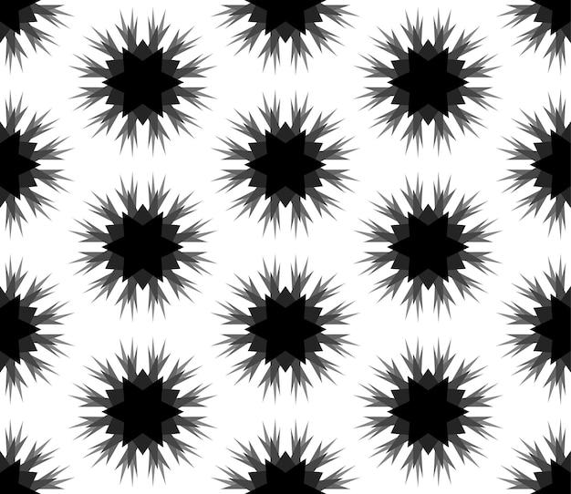 Padrão de flocos de neve pretos em um fundo branco