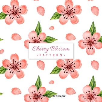 Padrão de flor de cerejeira