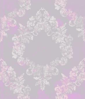 Padrão de floreio damasco vintage ornamentado