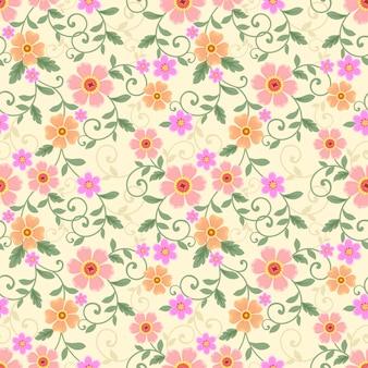 Padrão de flores coloridas sem emenda