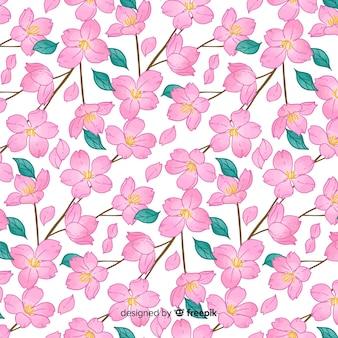 Padrão de flores de cerejeira