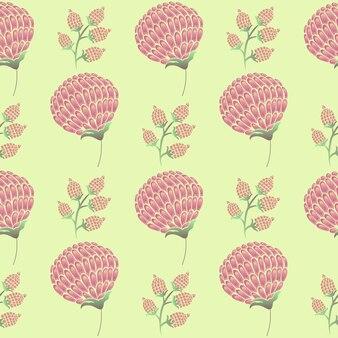 Padrão de flores e botões de orquídea