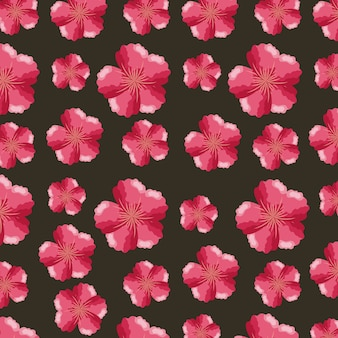 Padrão de flores tropicais