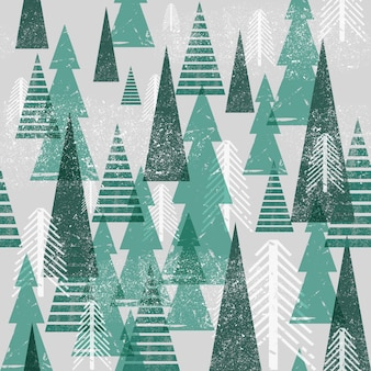 Padrão de floresta de inverno sem emenda.