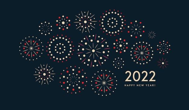 Padrão de fogos de artifício coloridos para ilustração vetorial de cartão comemorativo