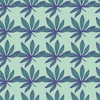 Padrão de folha de droga sem costura geométrica.