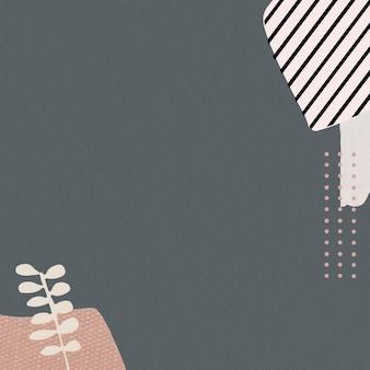 Padrão de folha em fundo cinza