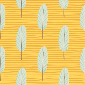 Padrão de folha sem costura botânica abstrata.