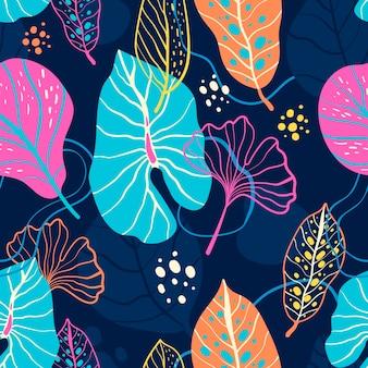 Padrão de folhas abstratas