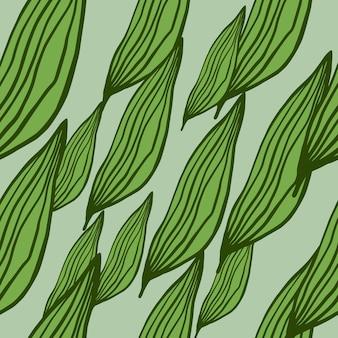 Padrão de folhas de linha orgânica aleatória abstrata. pano de fundo botânico moderno. papel de parede de natureza criativa. design para tecido, impressão têxtil, embalagem, capa. ilustração vetorial simples.
