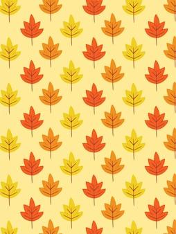 Padrão de folhas de outono pastel