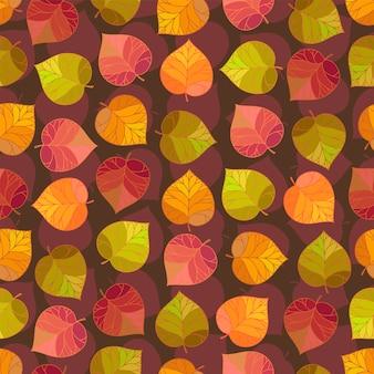 Padrão de folhas de outono