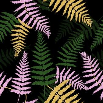 Padrão de folhas tropicais abstratas sem emenda