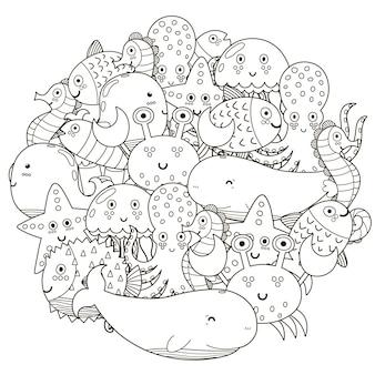 Padrão de forma de círculo subaquático