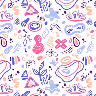 Padrão de formas abstratas desenhadas à mão