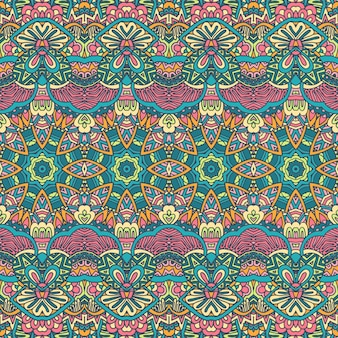 Padrão de formas geométricas coloridas sem costura tribal textura de vetor listrado étnico para tecido têxtil