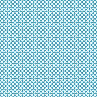 Padrão de formas modernas sem costura azul