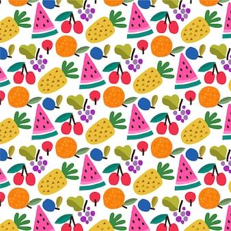 Padrão de frutas com abacaxi