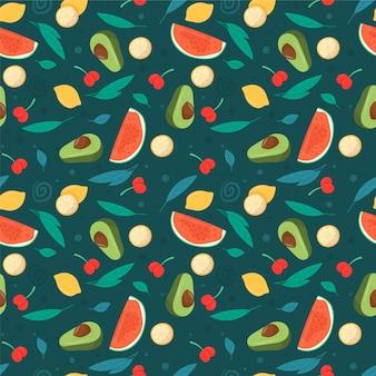 Padrão de frutas com melancia
