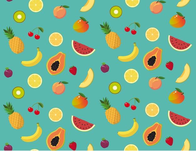 Padrão de frutas de verão