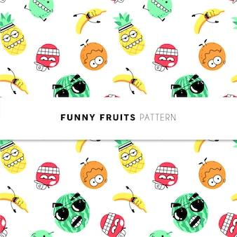 Padrão de frutas engraçadas
