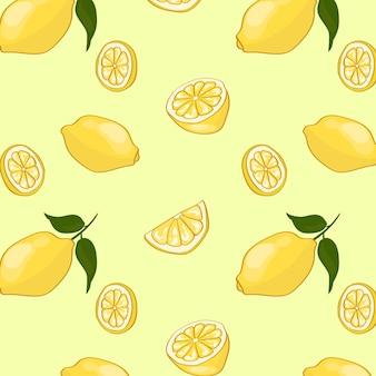 Padrão de frutas leves de verão