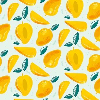 Padrão de frutas mão desenhada
