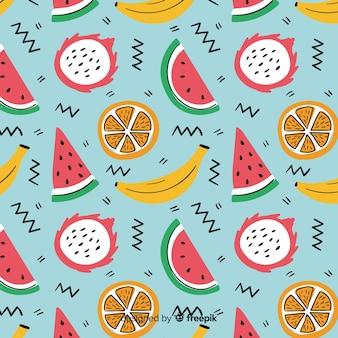 Padrão de frutas tropicais