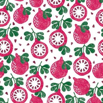 Padrão de frutas.