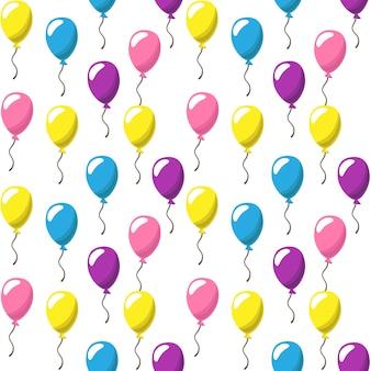Padrão de fundo com balões de festa de cores diferentes
