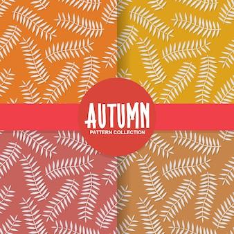 Padrão de fundo de estilo de corte de papel de folhas de outono