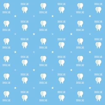 Padrão de fundo dental tema da cor do céu azul