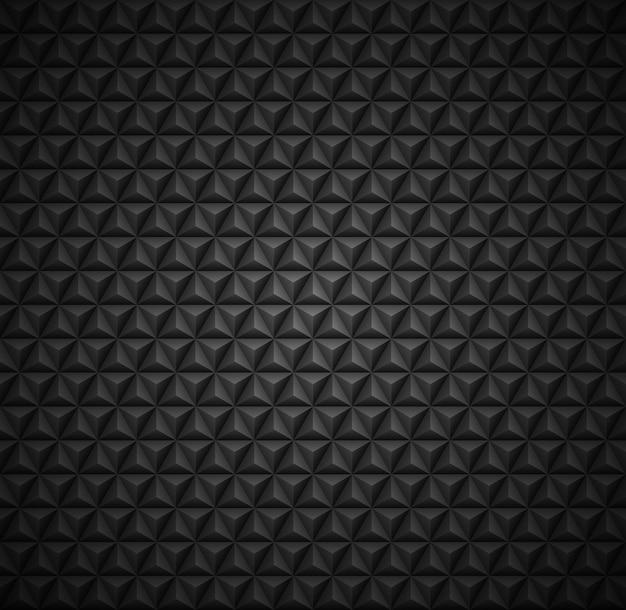 Padrão de fundo escuro sem costura em formas de triângulo